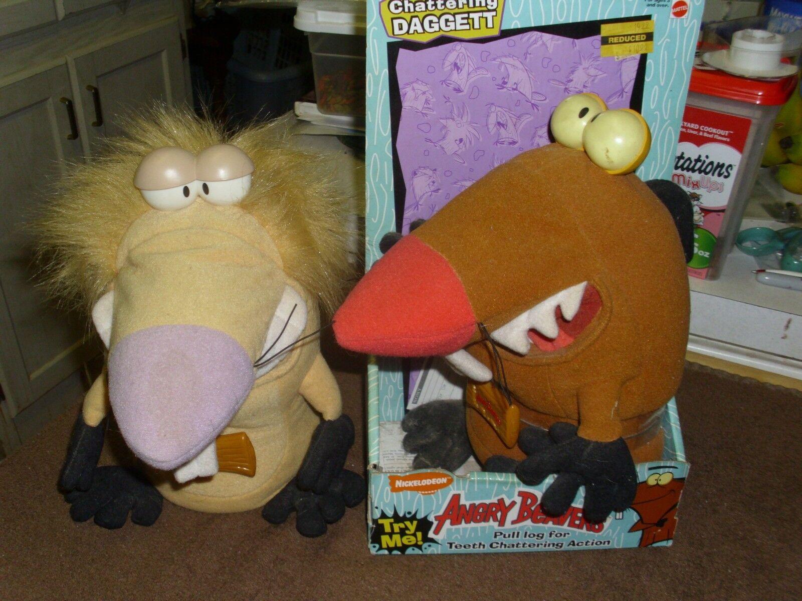 Angry Beavers Chattering Norbett and Daggett set  1998 Nickelodeon set Mattel