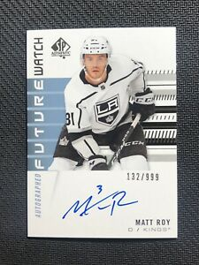 2019-20-UPPER-DECK-SP-AUTHENTIC-MATT-ROY-ROOKIE-FUTURE-WATCH-AUTO-ed-132-999