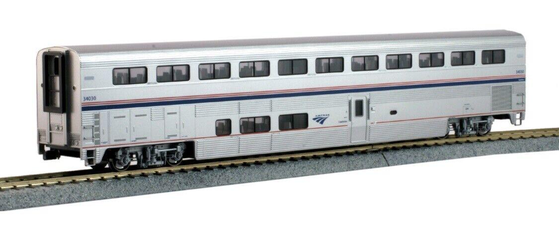 Kato 356055 scala HO autorozza Amtrak Superliner fase vi  34030