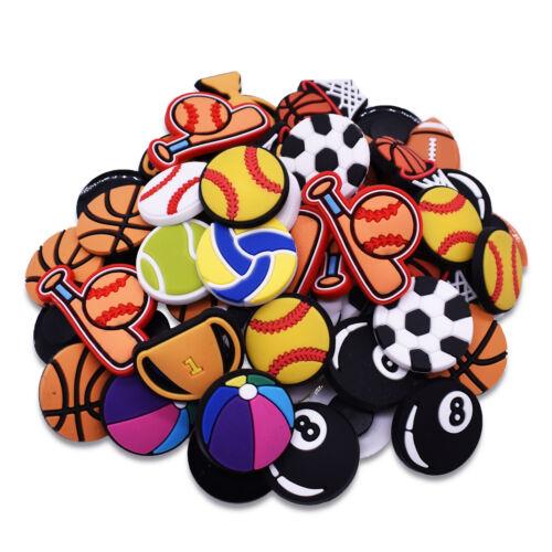 Boys Birthday Gift 60pcs Baske//Foot//Base Ball Tennis Shoe Bracelet Ornaments