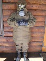 Nbc Suit L - Xl Nuclear Biological Chemical Pandemic Hazmat Mask Boots Gloves