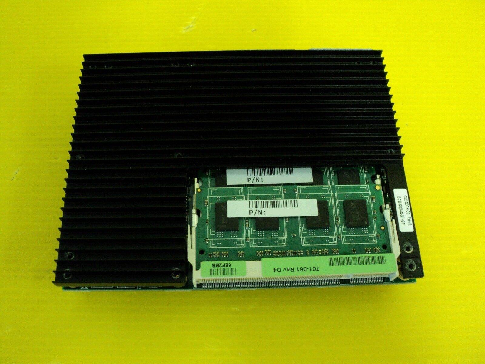 Kontron 501-018-D2 KNTH-40GCMU040 D120 CPU CARD W 2GB RAM 38006-0000-10-SCC1