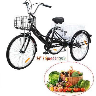 ridgeyard 3 rad dreirad f r erwachsene 24 fahrrad 7 gang senioren tricycle bike ebay. Black Bedroom Furniture Sets. Home Design Ideas