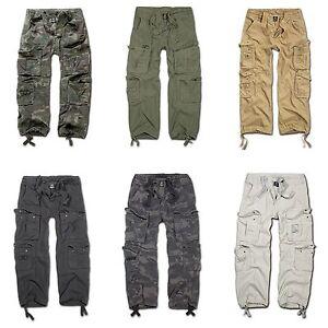 Brandit-Pure-vintage-Trouser-pantalones-cargo-outdoor-Army-ejercito-pantalones-best-seller