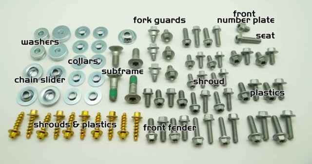 30pc KTM BOLT KIT  EXC PLASTICS FENDER FORK GUARD 125 250 300 350 450 520