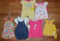 6 Pc Outfit Set Lot Girls Baby Clothes 0-3 Month Nickelodeon & Fisher Price