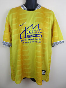 74ebfa2e Mens Yellow Nike Shirt Top Soccer Jersey Retro Football Sport 90s ...