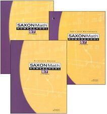 Saxon Math 8/7 Homeschool Kit w/Student Text, Tests/Worksheets, Solutions Manual