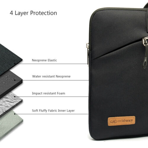"""Zipper Sleeve Bag Case for All Laptop 13/"""" 13-inch Macbook Pro with or out Retina"""