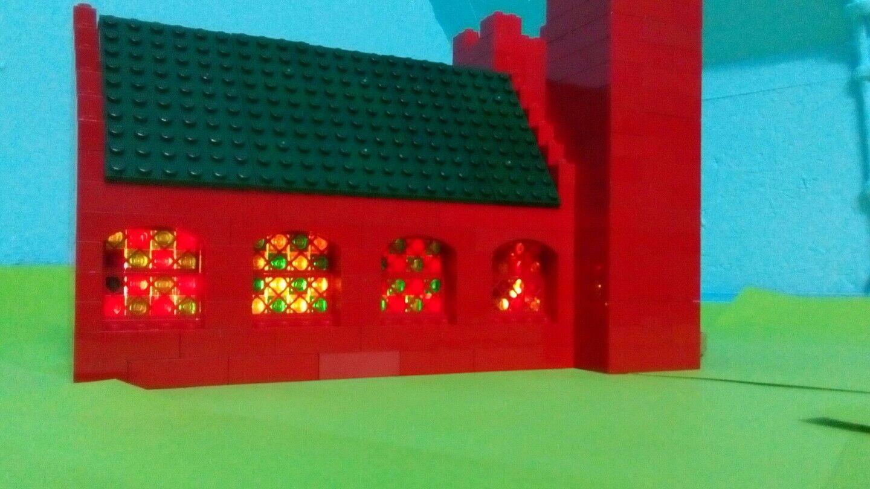 LEGO® Castle Ritter Kirche Kathedrale Kapelle Dom Altstadt Burg Burg Burg MOC Eisenbahn 86494c