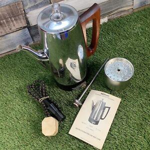VTG-60s-70s-Teak-Handle-SONA-Coffee-Perculator-Pot-Mid-Century-Instructions
