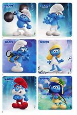 Smurfs Stickers x 6 - Favours - Birthday Party - Loot Bags Ideas - Smurfs Movie
