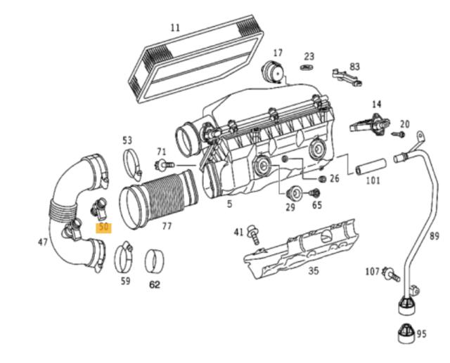 NEW GENUINE MERCEDES BENZ MB OM612 ENGINE AIR INTAKE SENSOR A6110160630