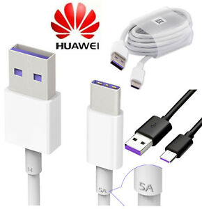 clearance prices sneakers vast selection Details zu Pour Huawei P20 Lite Pro Type C USB-C Sync Chargeur 5A Câble de  charge rapide