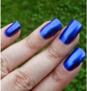 Detalles De Esmalte De Uñas Polish Color Azul Eléctrico Metálico Resistente Rinforzante