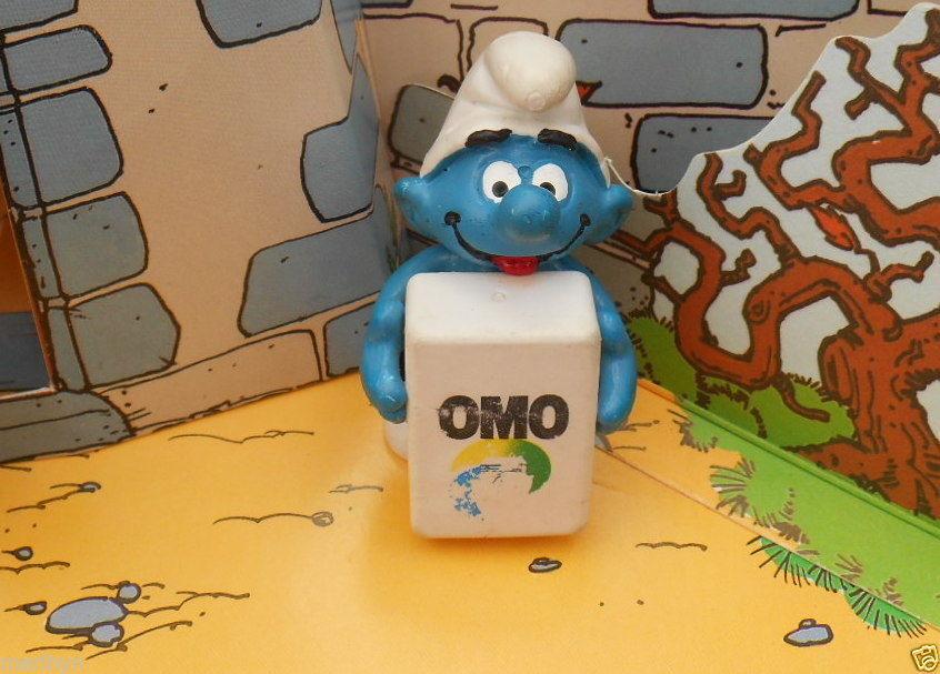 196 schtroumpf paquet OMO smurf  puffo puffi pitufo publicitaire PUB T.Rare