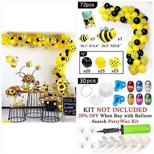 PartyWoo-Bee-Balloons-72-pcs-Black-and-Yellow-Balloons-Yellow-Polka-Dot-Balloo