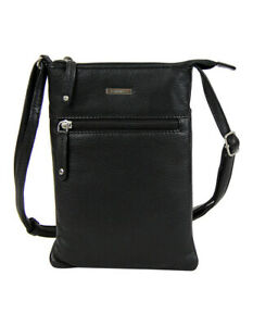 NEW-Joan-Weisz-Skater-Zip-Top-Crossbody-Bag-Black