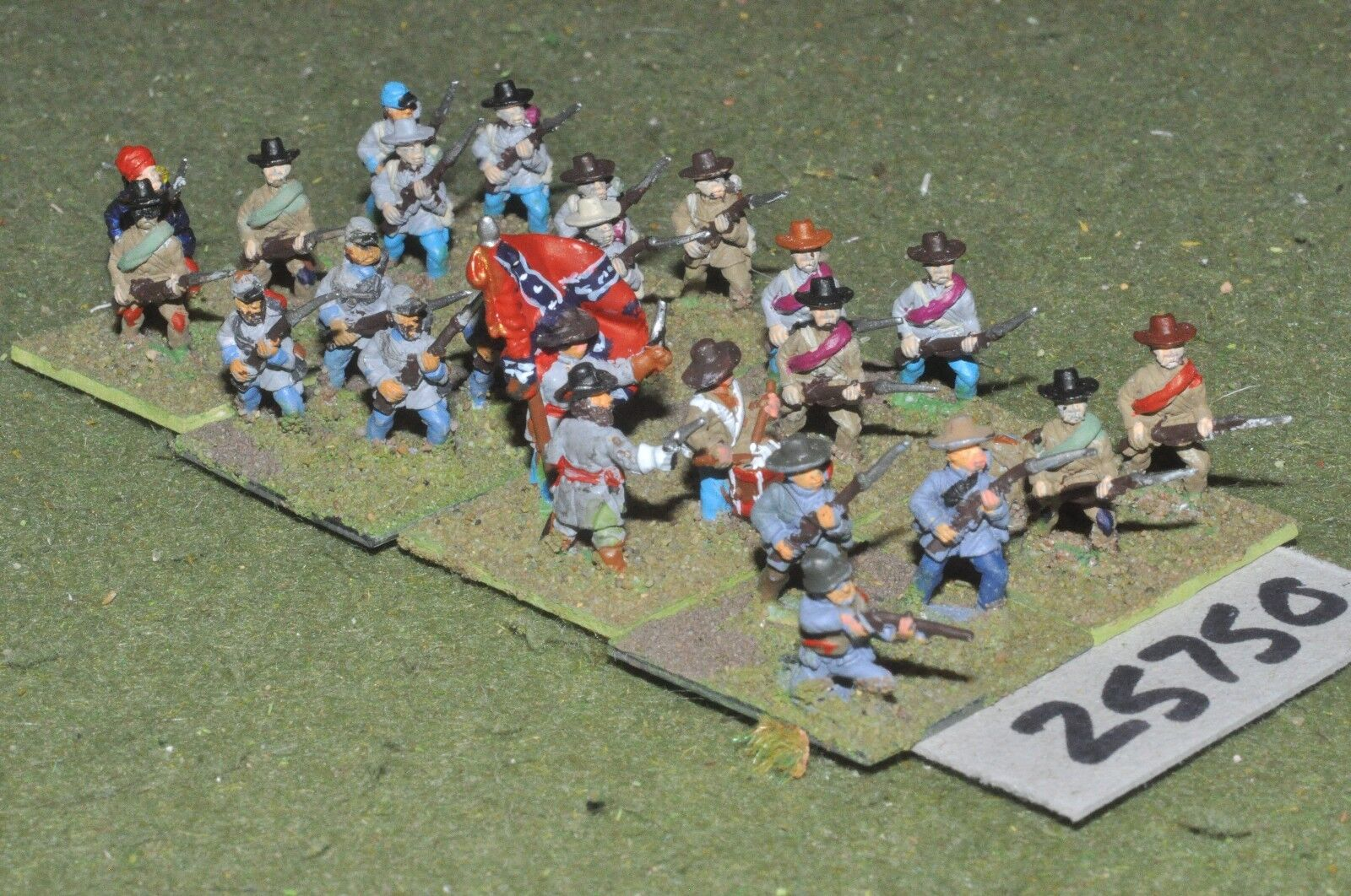 15mm ACW   confederate - regt. 24 figures - inf (25750)
