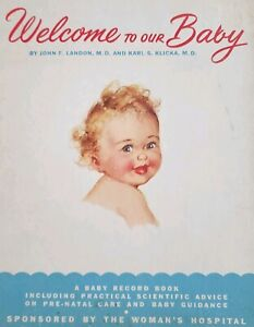 """Welcome to Our Baby"" Modern Baby Book Guide for New ..."