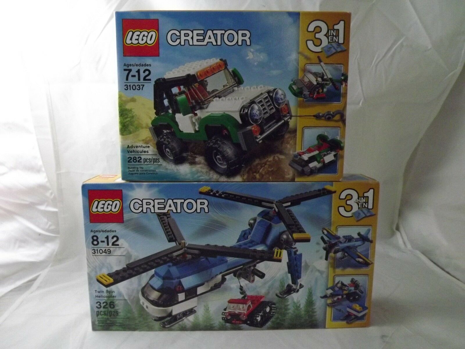 2 NEW LEGO Creator Sets 31037 Adventure Vehicles &  31049 Twin Spin Helicopter