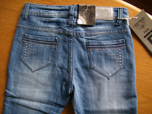 FEN Damen Jeans Stretchjeans Stretch blau hellblau used Look 36 38 40 42 neu