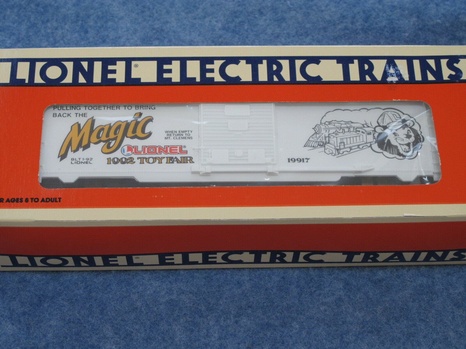 1992 Lionel 6-19917 Toy Fair Box Car NIB L1529