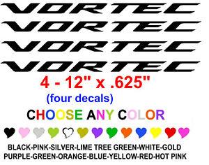 Vortec Sticker Decal Silverado Gmc Sierra Hood Ebay