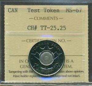 2004 Canada Poppy Test Token CH# TT-25.25 Certified ICCS MS-67