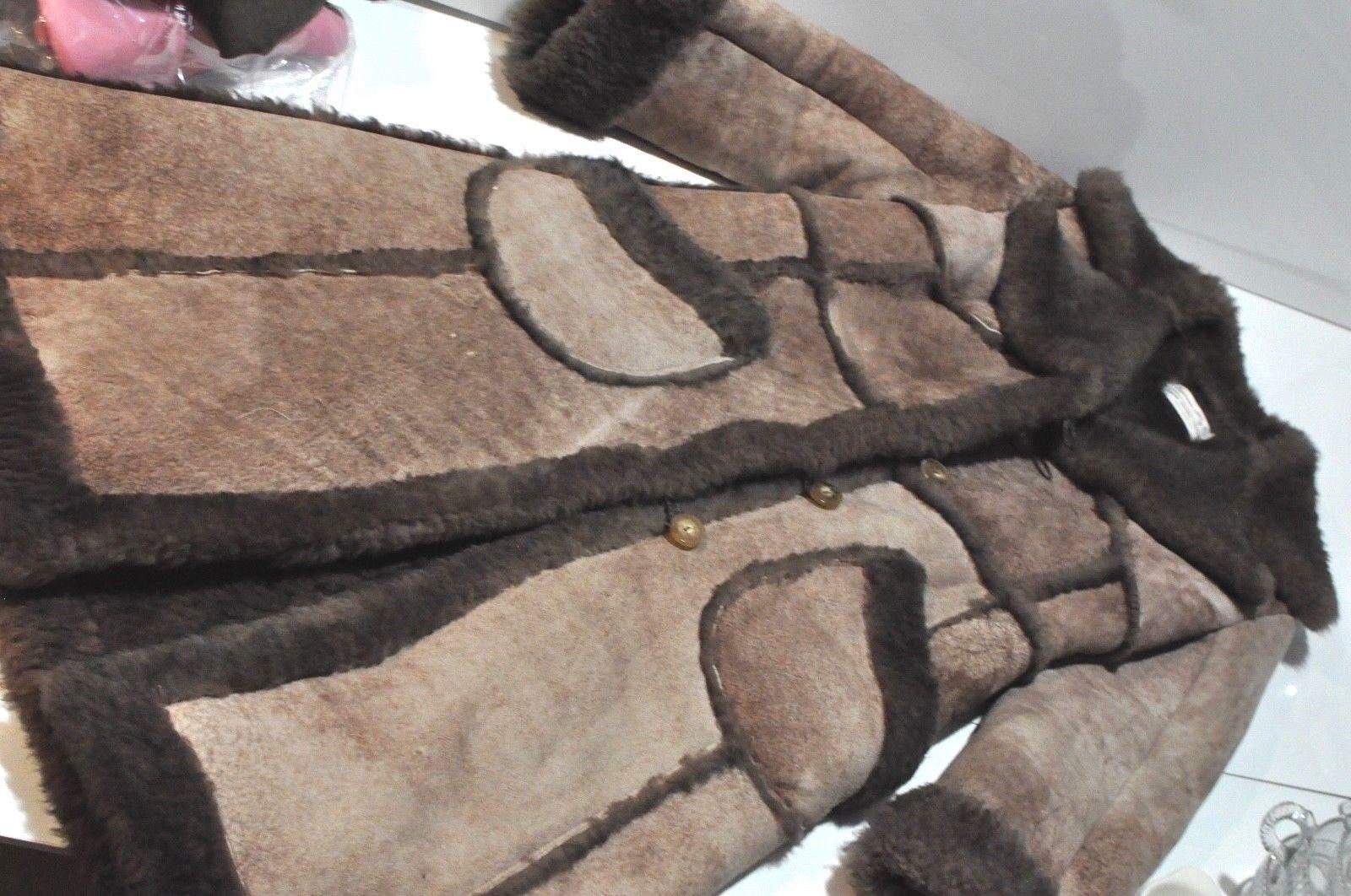 Vintage Sportsman Mfg Mfg Mfg Co. genuine sheepskin Coat Berlin Wisconsin Womens sz 6 42e7fa