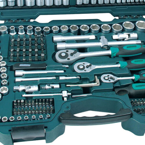 Mannesmann Socket Set 215 Pieces Tools Made With Chrome-Vanadium Special Steel