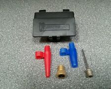 PUMP ADAPTOR KIT. to suit BIKES presta - schrader, RUGBY, FOOTBALL & AIRBEDS