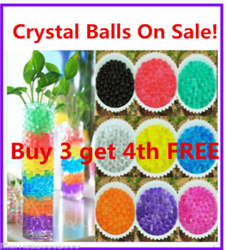 3 For 4 Sale Crystal Water Soil Beads Pearl Jelly Ball Wedding Party Decoration