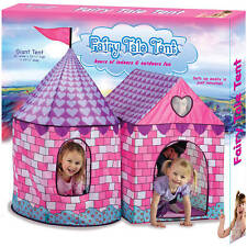 item 5 Girls Fairy Princess Castle Playhouse Children Kids Play Tent Large Double Tent -Girls Fairy Princess Castle Playhouse Children Kids Play Tent Large ...  sc 1 st  eBay & Princess Fairy Tale Tent Playhouse Pink Indoor Outdoor Play House ...
