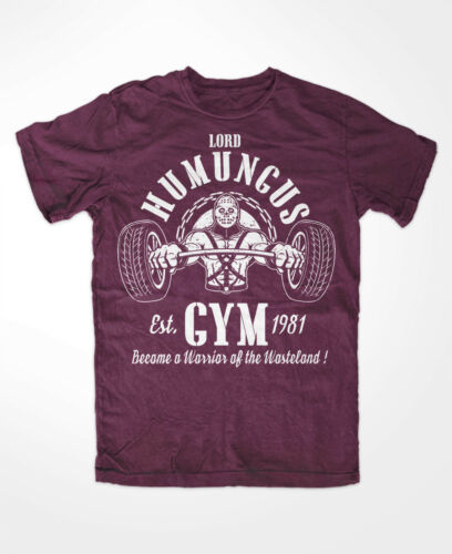 Lord humungus Gym T-shirt Bourgogne, shine and Chrome, Intercepteur,, Rockatansky