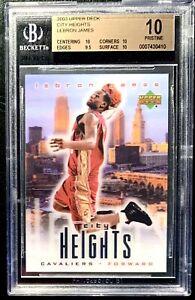 RARE-LEBRON-ROOKIE-CARD-BGS-10-POP-19-2003-UD-City-Heights-BEAUTIFUL