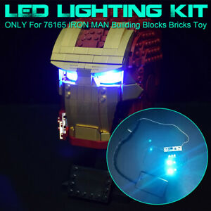 Optics Sensor USB LED Licht Beleuchtung Kit NUR Für LEGO 76165 IRON MAN