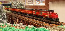 Custom Lego GM&O Gulf Mobile and Ohio Gulf Coast Rebel Passenger Train Set