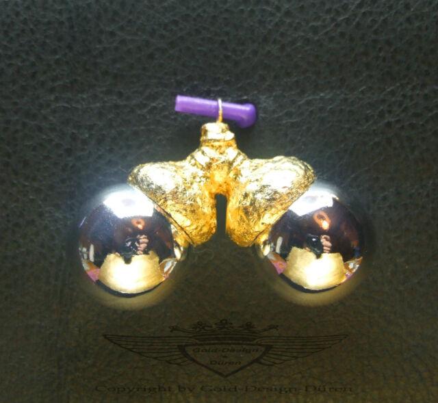 Engelsrufer Harmony Ball Doppelt, Silber, Eichelkäppchen 24 Karätiges Blattgold