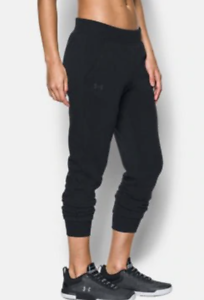Under-Armour-UA-Threadborne-Fleece-Crop-Womens-Pants-1300291-Black-XS-or-S-65