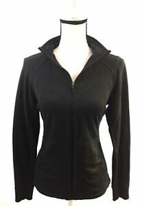 KENNETH-COLE-REACTION-Small-Sweater-Zip-Up-Collared-Black-Windbreaker-So-Cute