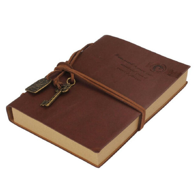 Vintage Classic Retro Journal Travel Leather Notepad Notebook Diary Memo