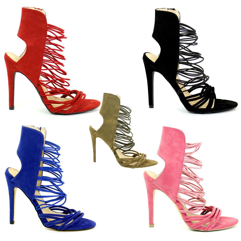 Nuevos zapatos para hombres y mujeres, descuento por tiempo limitado Bloque Talón Sandalias para mujer Chicas Damas Cremallera Punta Abierta Con Correas Fiesta Zapatos 3-8