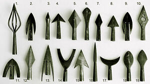 HISTORICAL-TRADITIONAL-ARCHERY-METAL-ARROWPOINTS-DIFFERENT-FORMS-TO-ARROWS