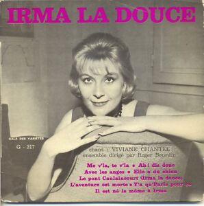 VIVIANE-CHANTEL-Vinyle-33T-17-cm-8-Titres-IRMA-LA-DOUCE