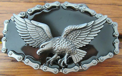 USA American Eagle Belt Buckle Patriotic Bird Motorcycle Chain Outline