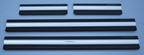 K68 Volkswagen Jetta Mk5 06-10 Silver Steel Kick Plate Car Door Sill Protectors