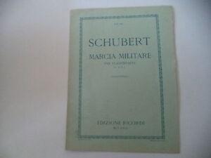 Ricordi Schubert Marciano Marcia Militare op.51 n.1 Per Pianoforte a 4 mani
