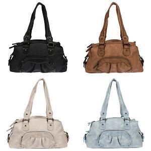 Jennifer-Jones-Tasche-Damentasche-Schultertasche-Umhaengetasche-Schwarz-Braun-NEU