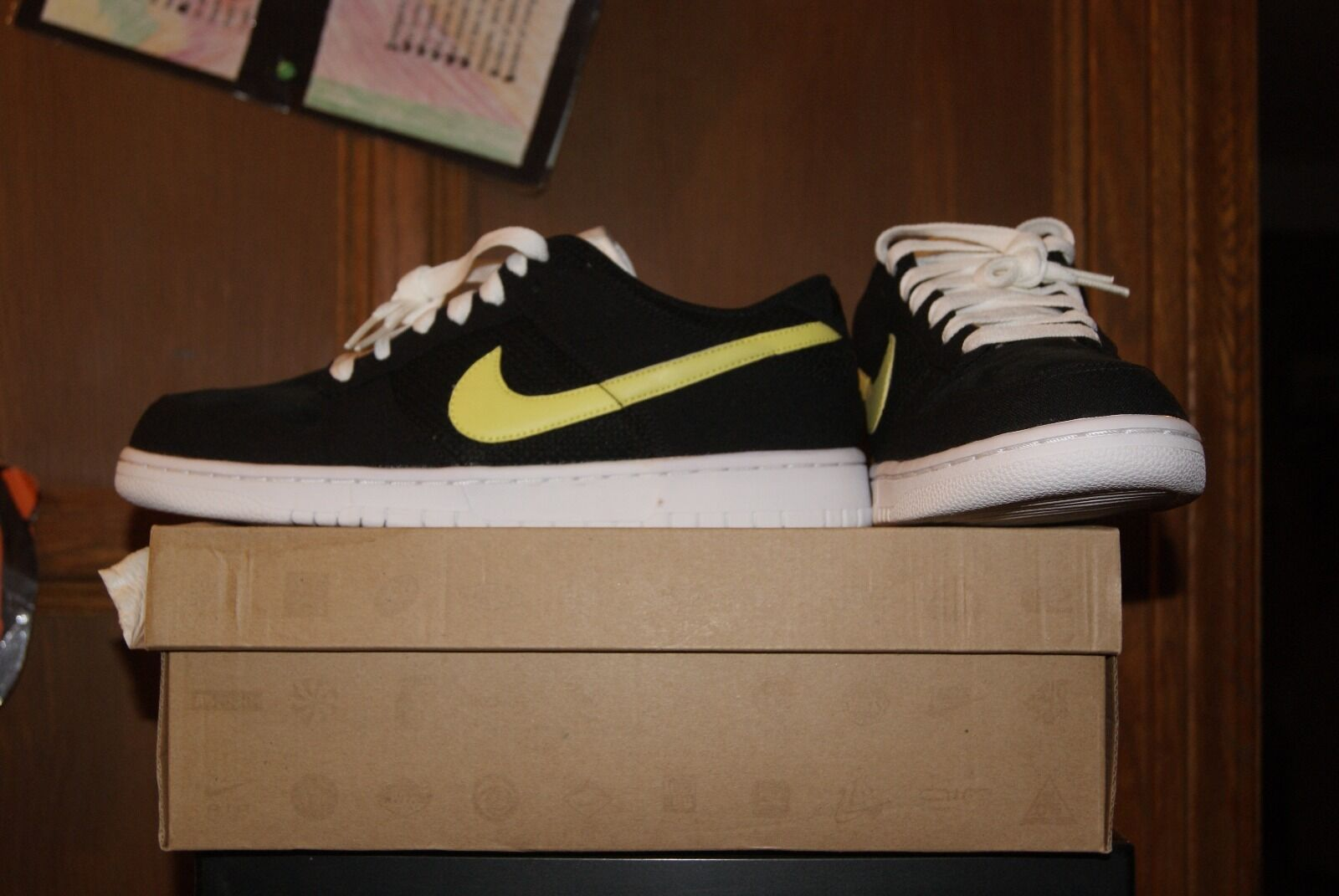 Mens Nike Dunk Low CL Black Yellow White Sz 9 or 9.5 Shoes Brand discount